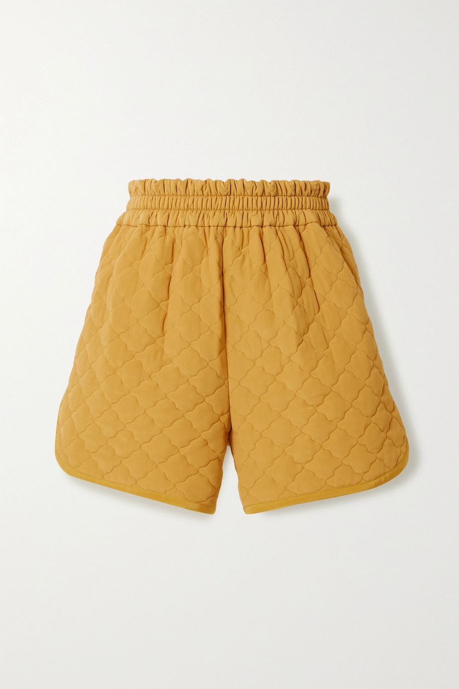 Fendi Quilted padded silk crepe de chine shorts
