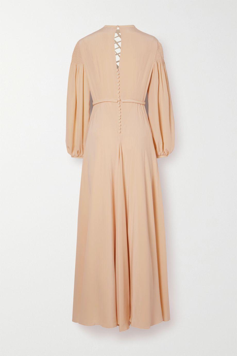 Fendi Cutout silk crepe de chine gown