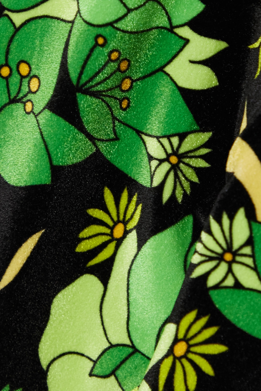 Fendi Reversible cropped printed velvet and stretch-jersey leggings