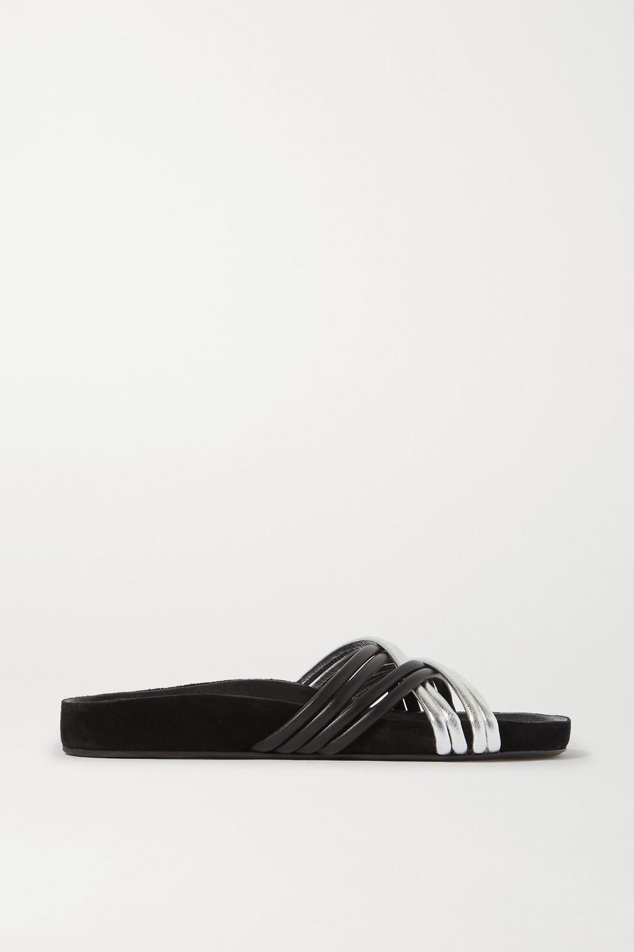 Isabel Marant Hellya two-tone leather slides