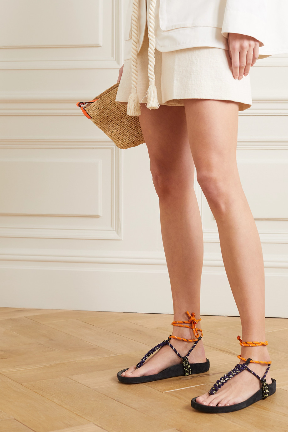 Isabel Marant Loreco leather-trimmed braided sandals