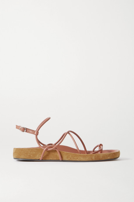 Brown Enador leather and suede sandals  | Isabel Marant VFaGpZ