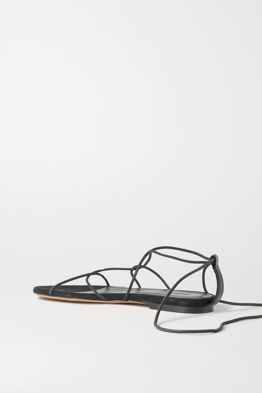 Isabel Marant Jindia bead-embellished leather and suede sandals