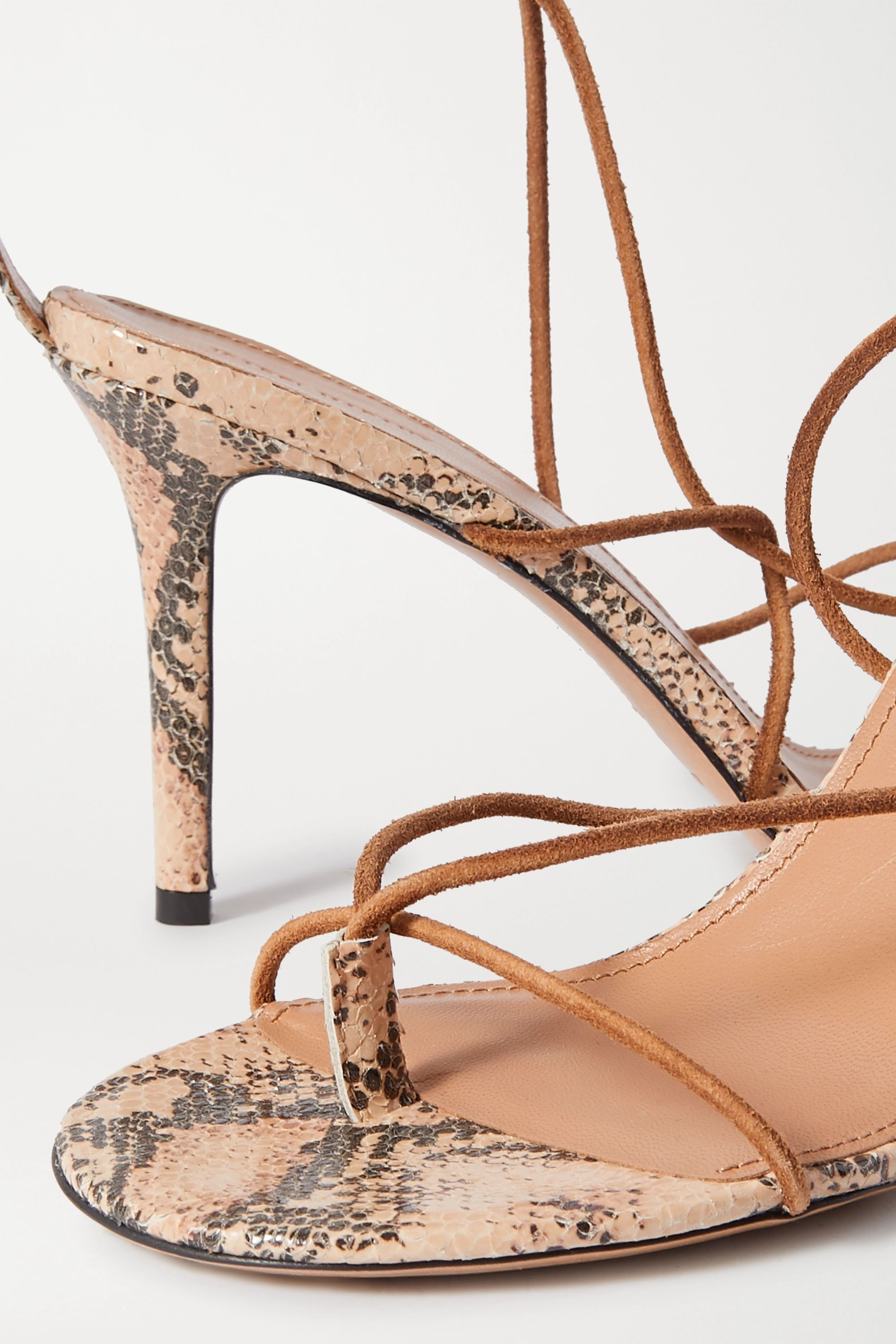 Isabel Marant Askee suede and snake-effect leather sandals
