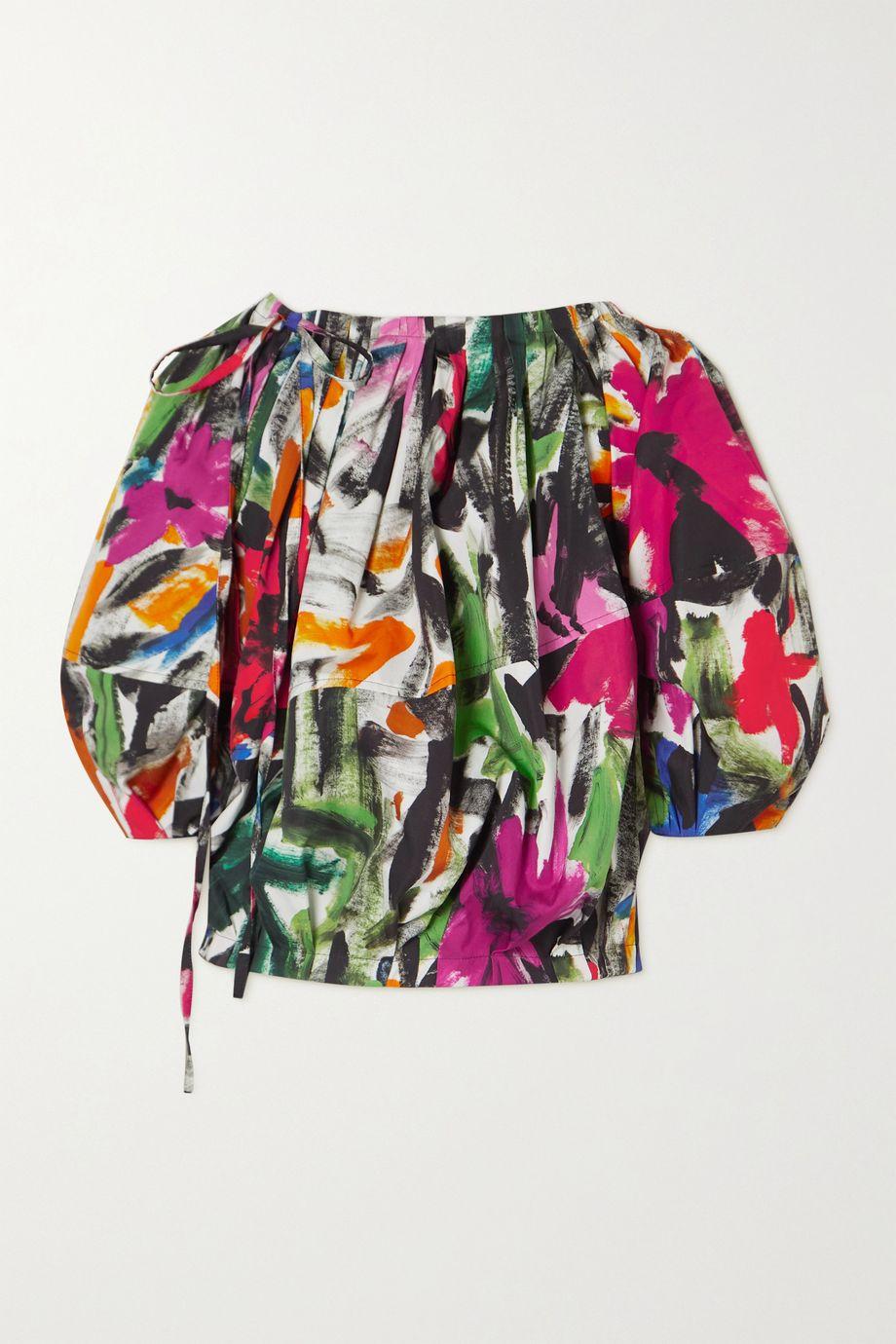 Marni Printed cotton-drill blouse