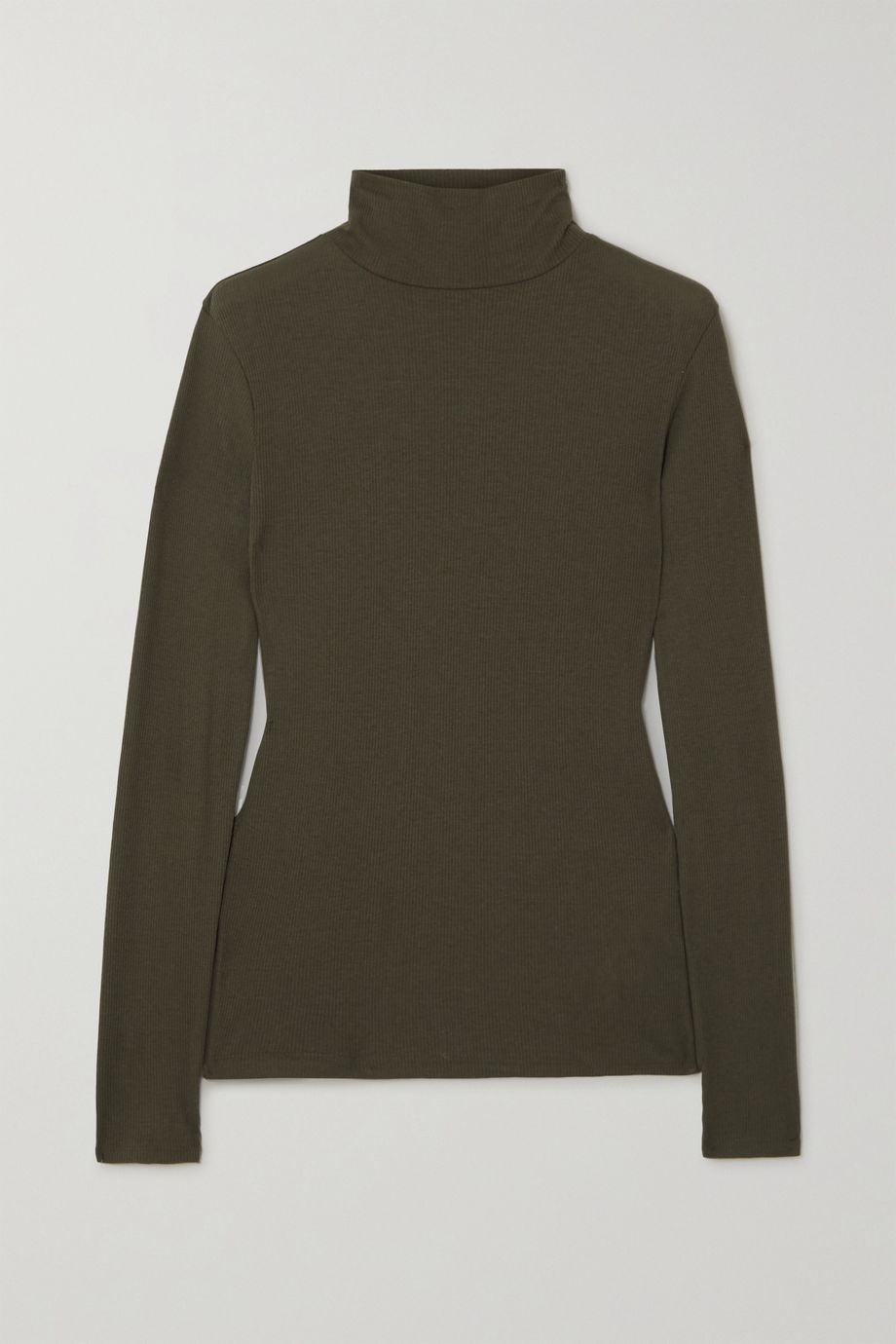 Ninety Percent + NET SUSTAIN Kaye ribbed organic cotton-jersey turtleneck top