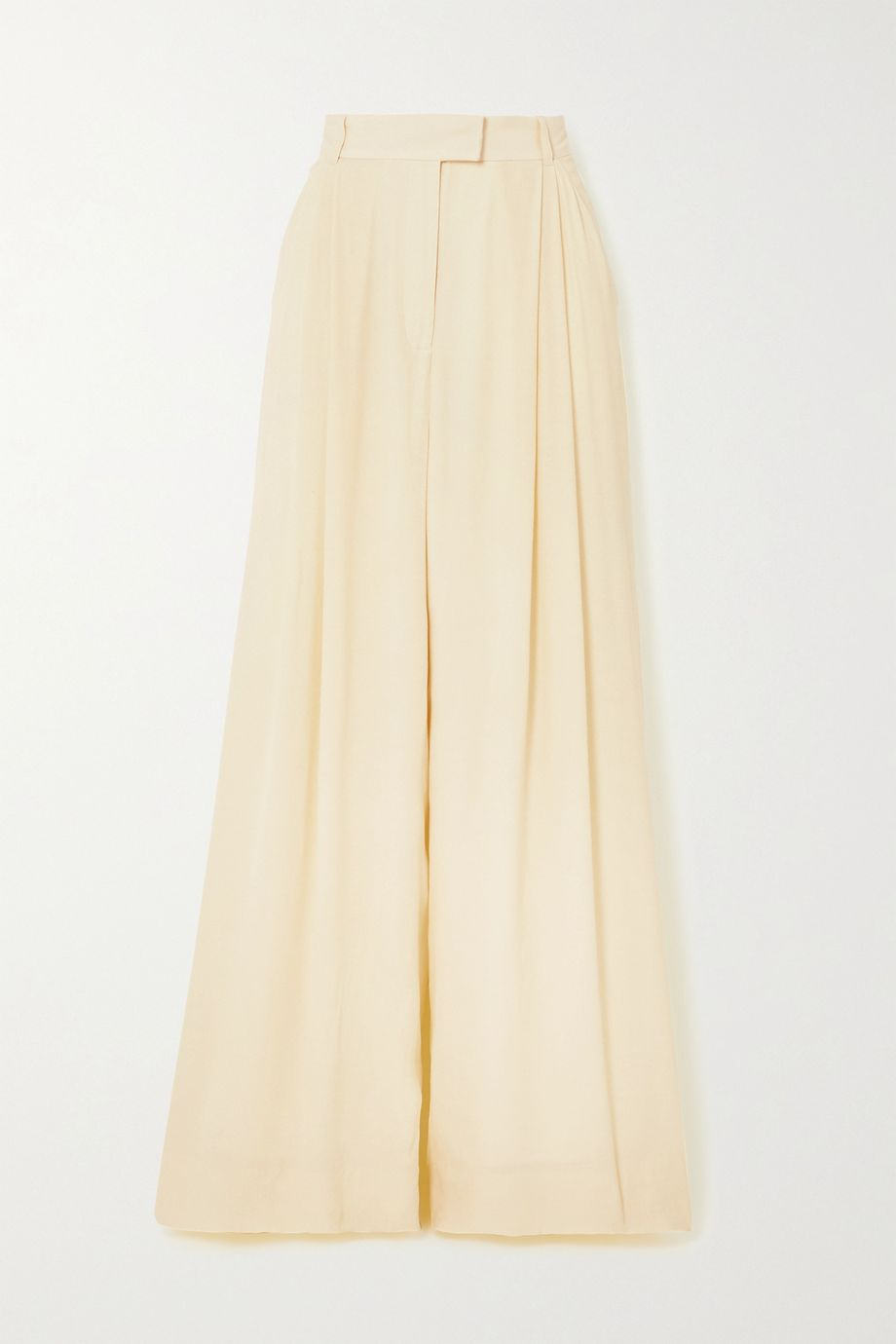 Three Graces London Molly pleated crepe wide-leg pants