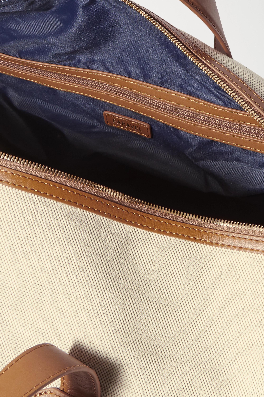Paravel + Space for Giants Main Line Duffel appliquéd leather-trimmed canvas weekend bag