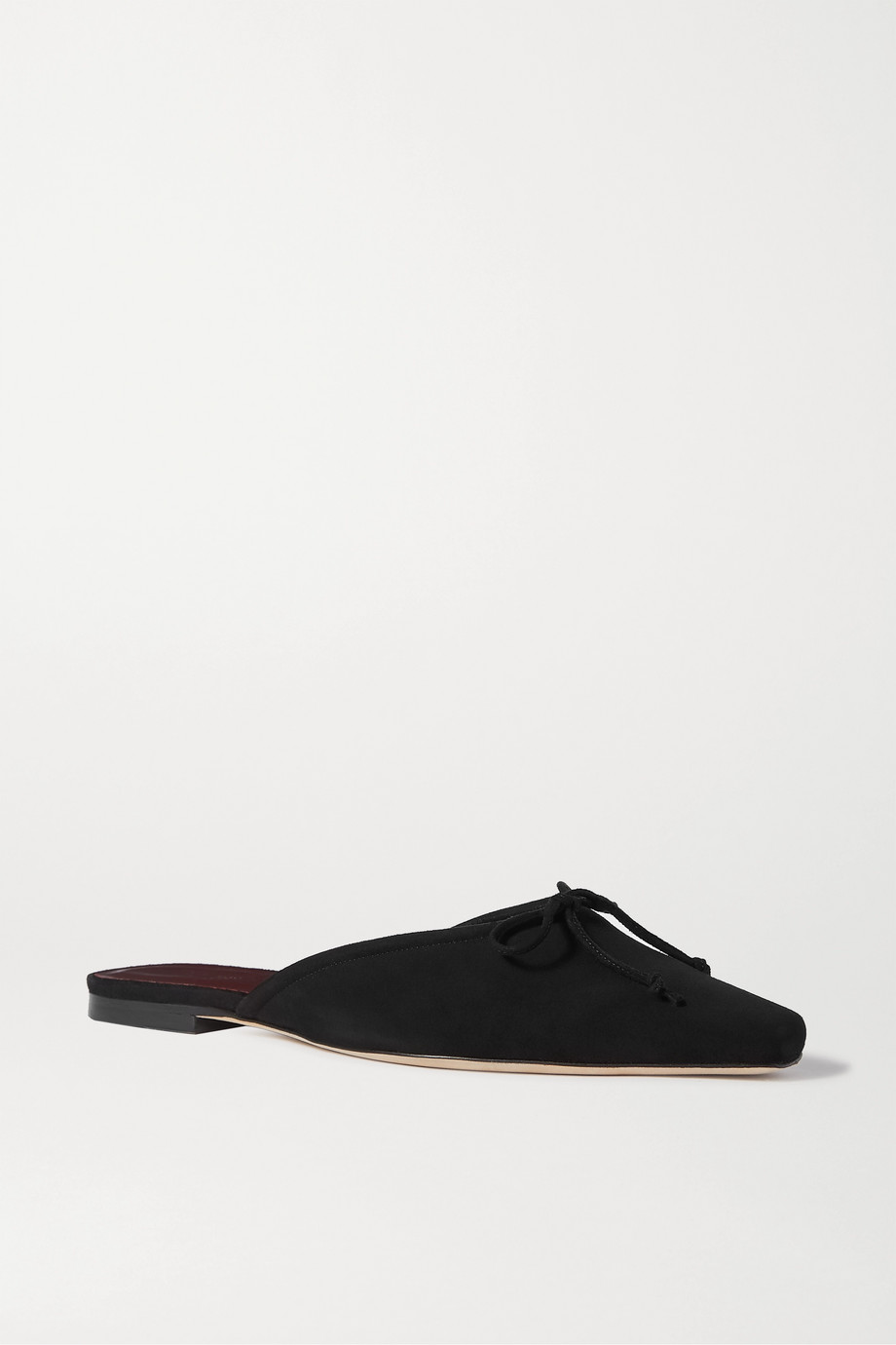 STAUD Gina bow-detailed suede mules
