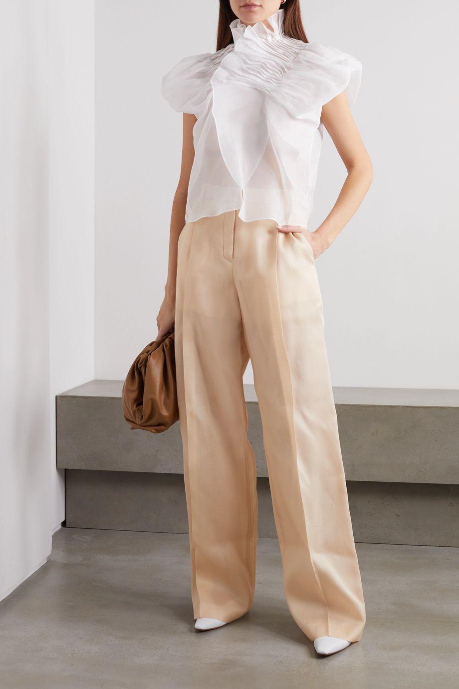 Nina Ricci Silk-gazar wide-leg pants