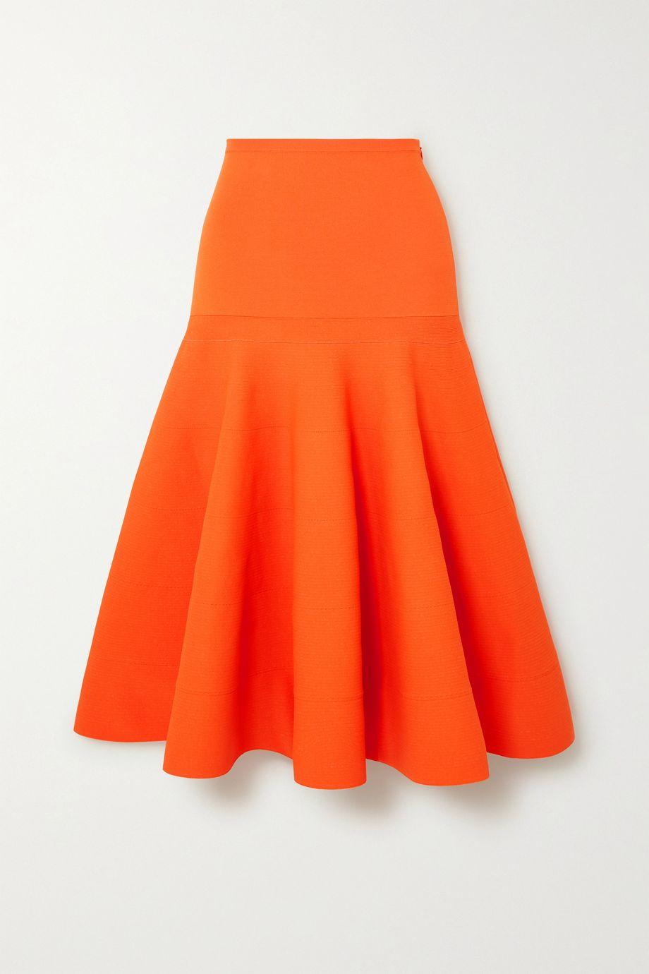 Nina Ricci Pleated terry midi skirt