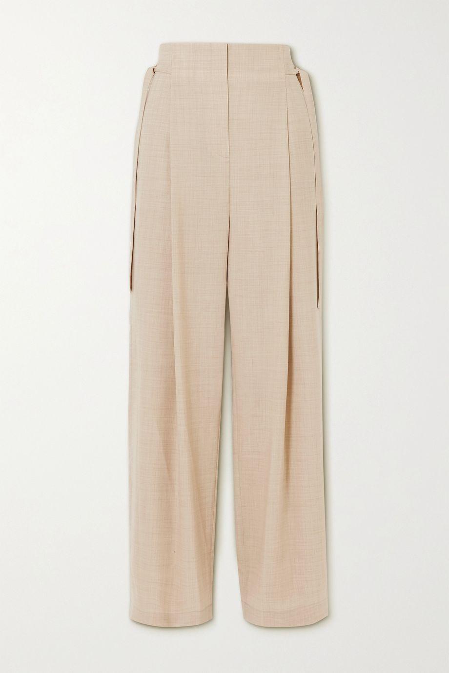 LE 17 SEPTEMBRE Tie-detailed wool straight-leg pants