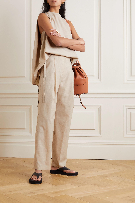 LE 17 SEPTEMBRE 系带细节羊毛直筒裤