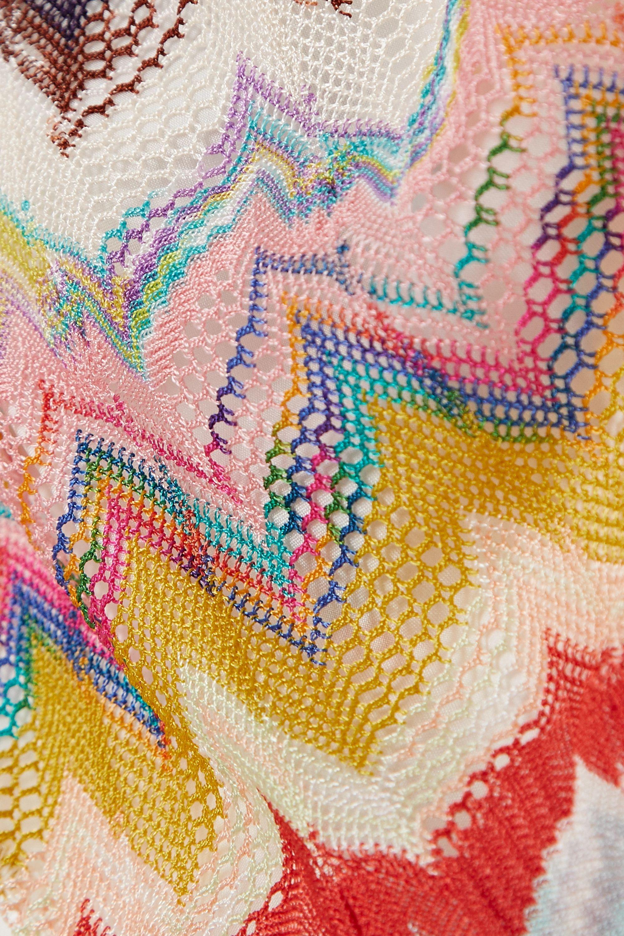 Missoni Crochet-knit triangle bikini