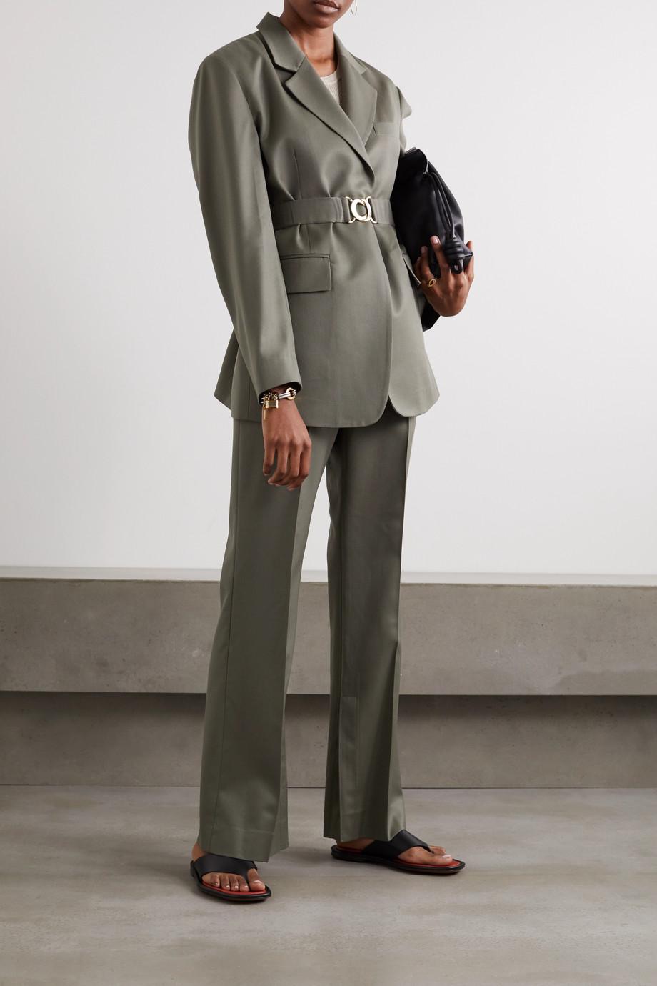 LVIR Belted wool-twill blazer