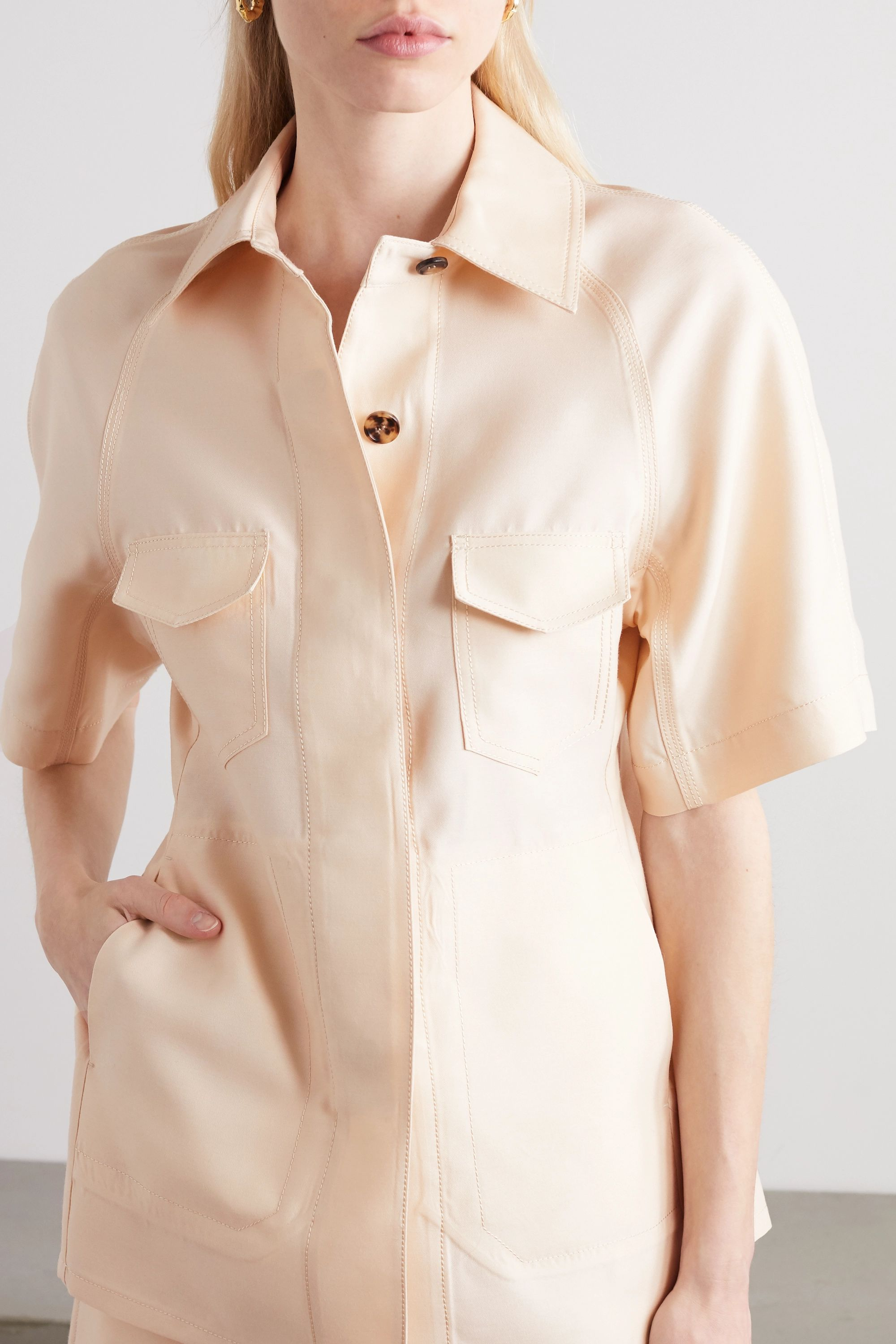 LVIR Wool and silk-blend shirt