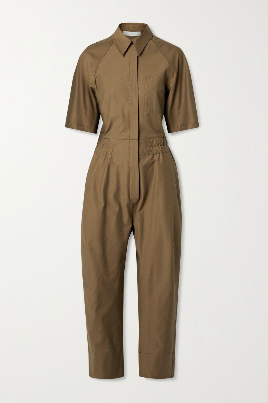 LVIR Cotton-blend twill jumpsuit