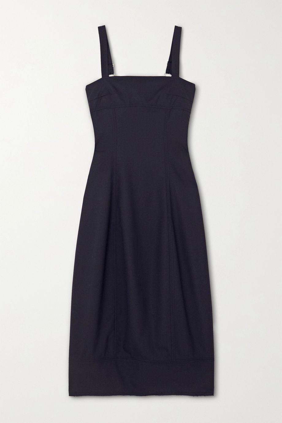 LVIR Wool-crepe midi dress