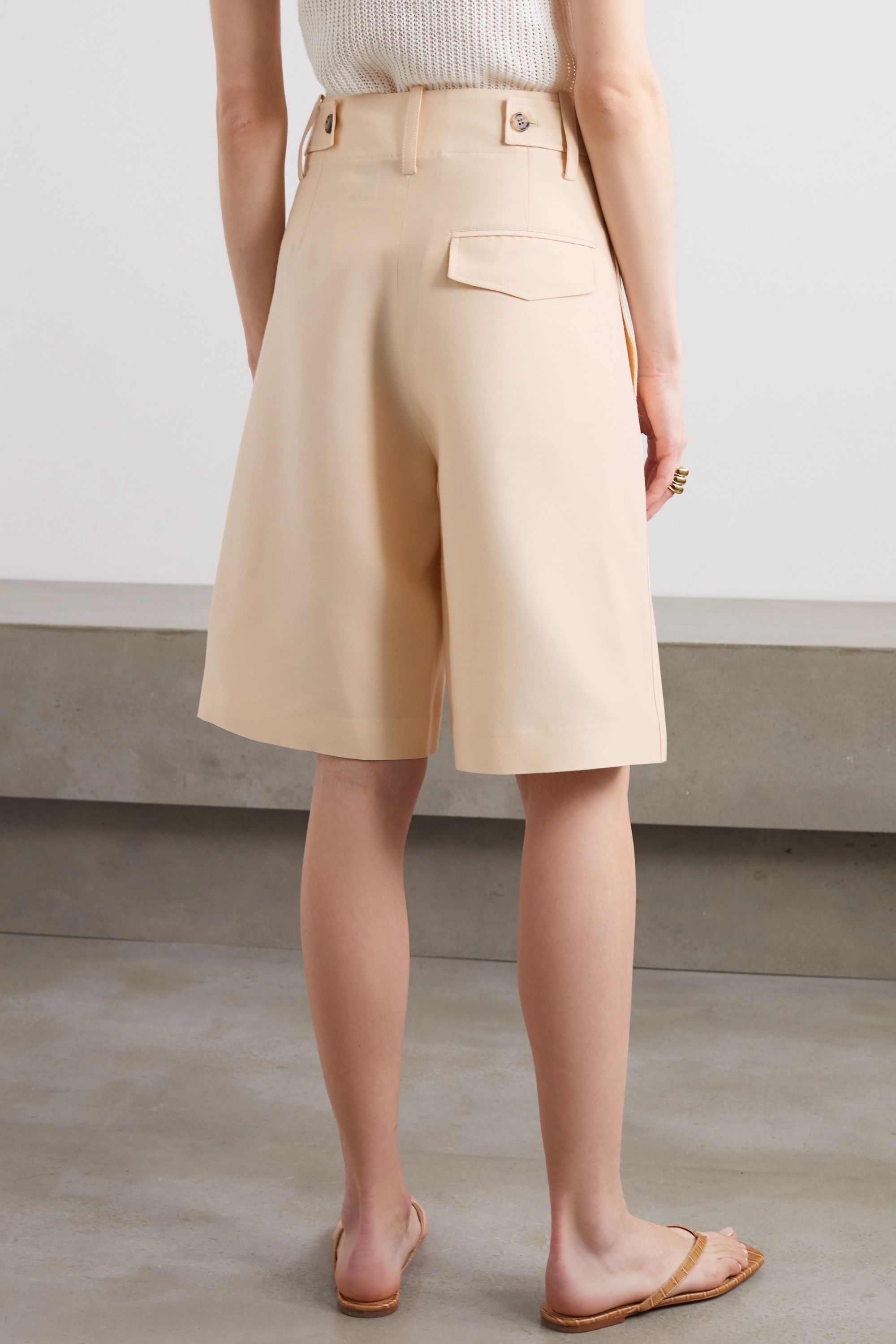 LVIR Wool and silk-blend shorts