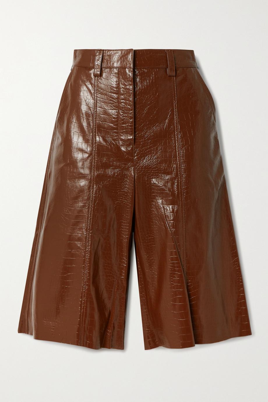 Dodo Bar Or Ivgenya croc-effect leather shorts