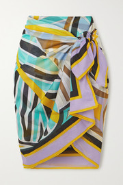 Printed cotton-voile pareo