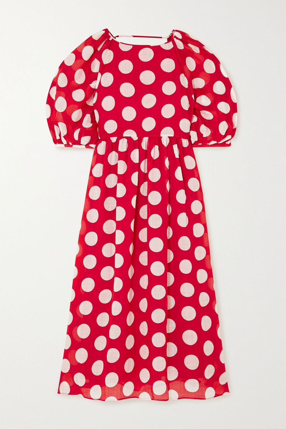Paul & Joe Carthage open-back polka-dot ramie midi dress