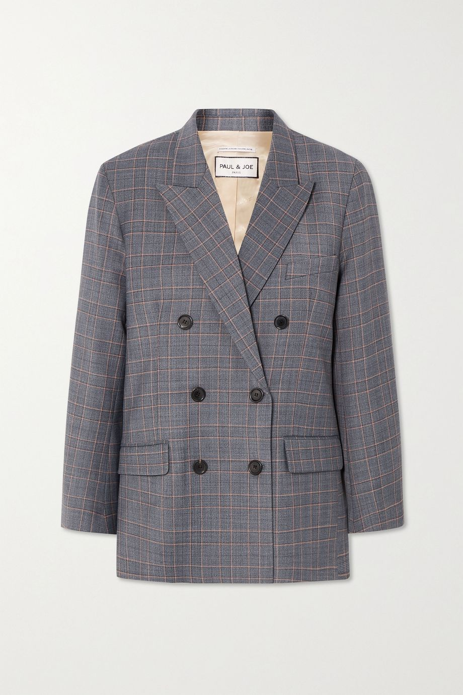 Paul & Joe Sofia double-breasted checked twill blazer