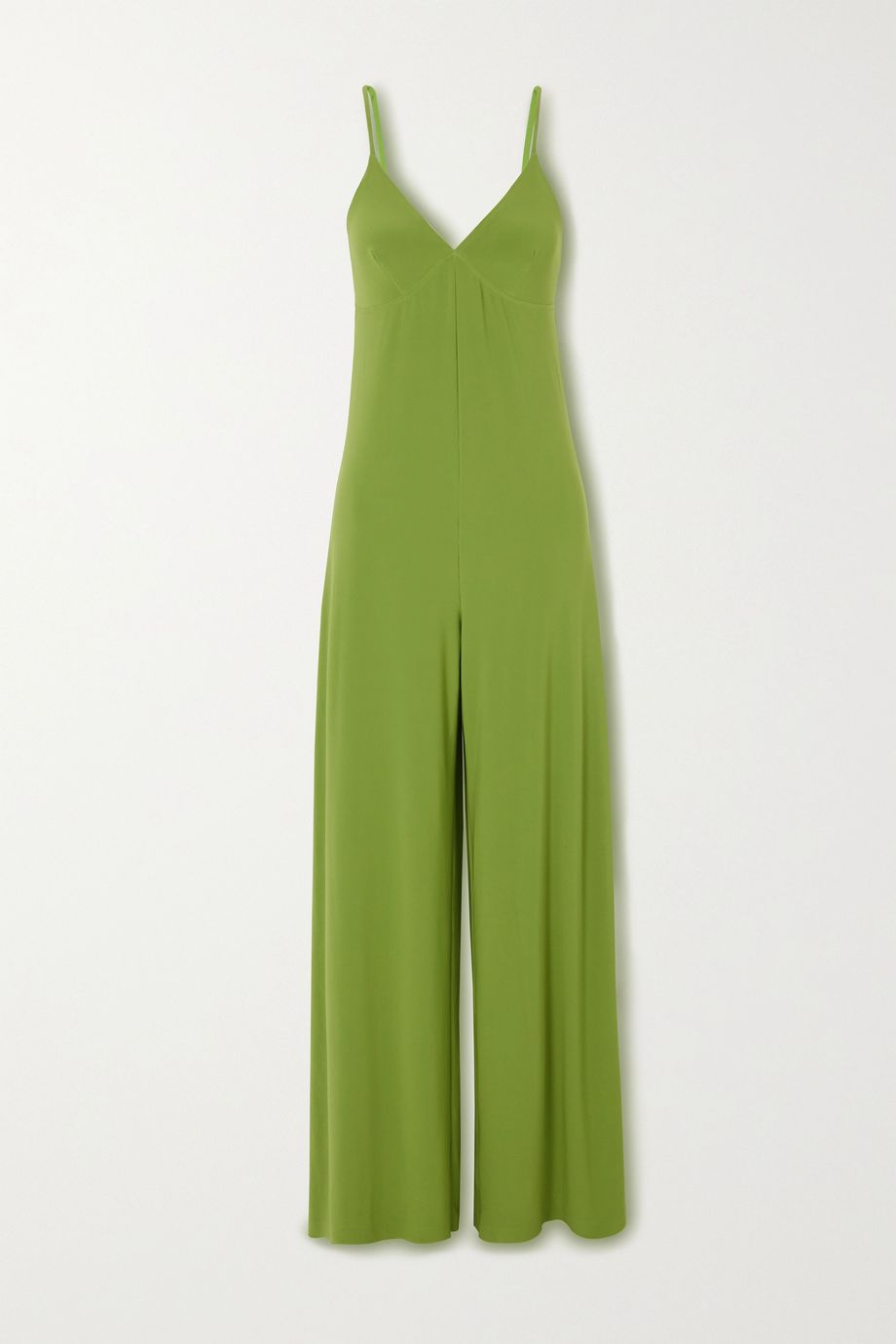 Norma Kamali Stretch-jersey wide-leg jumpsuit