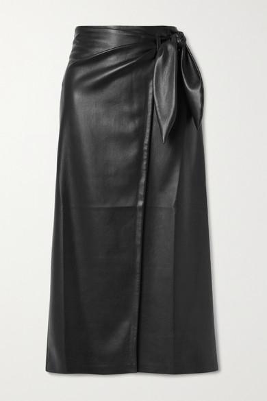 Amas vegan leather wrap skirt by Nanushka, available on net-a-porter.com for EUR310 Kim Kardashian Skirt Exact Product