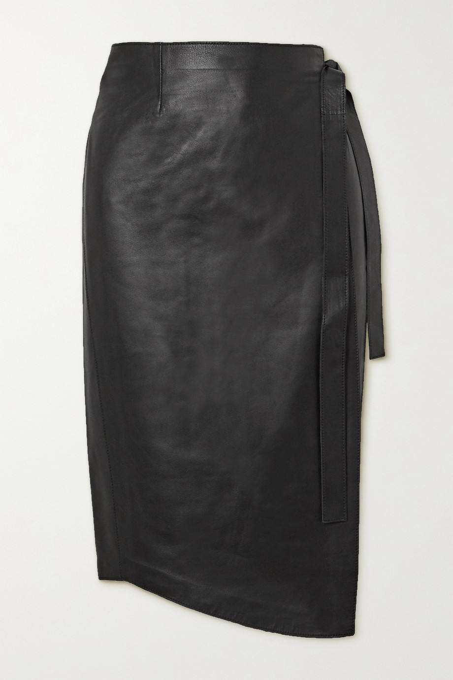 Envelope1976 + NET SUSTAIN Sarajevo leather wrap skirt
