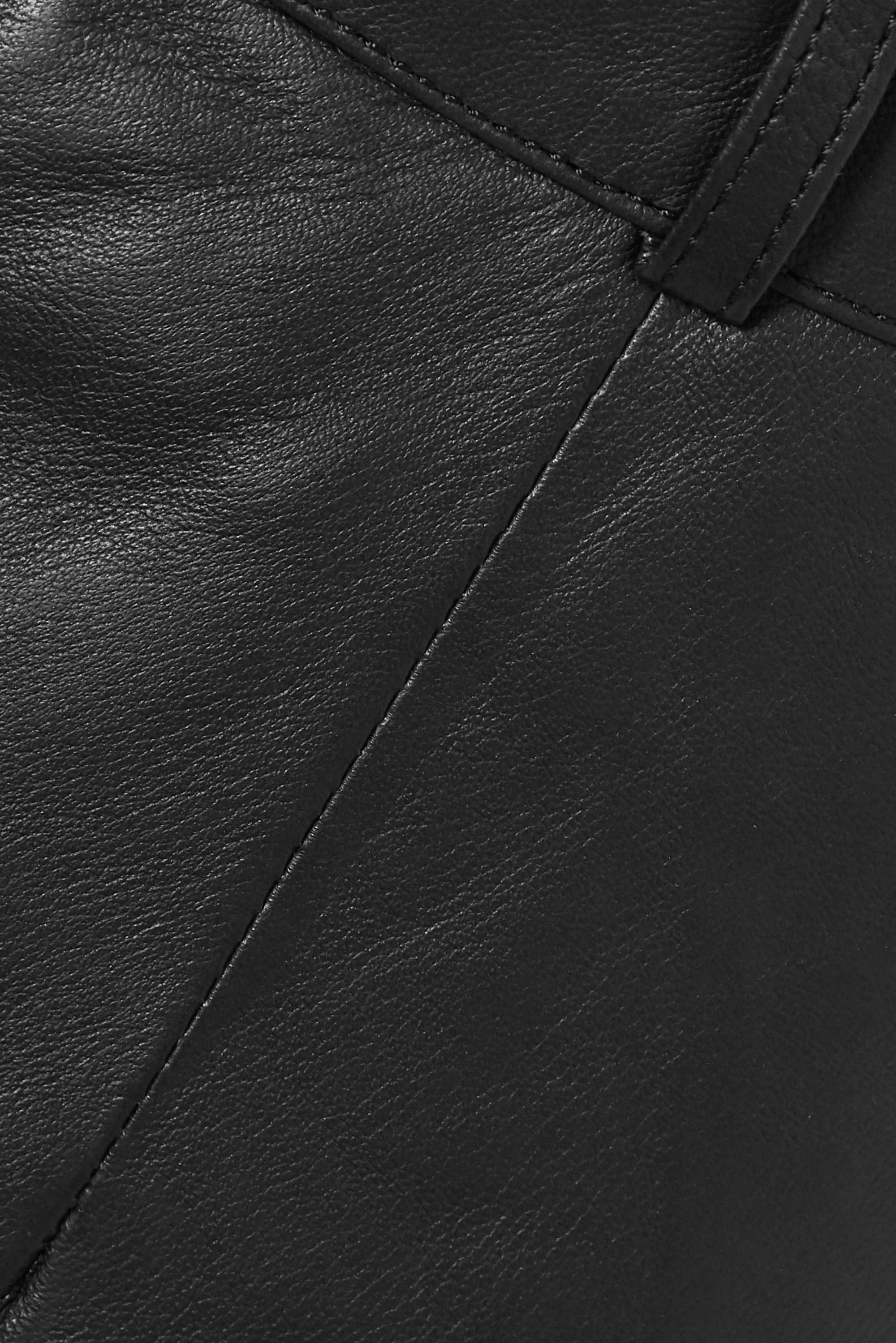 Envelope1976 + NET SUSTAIN Oslo leather wide-leg pants