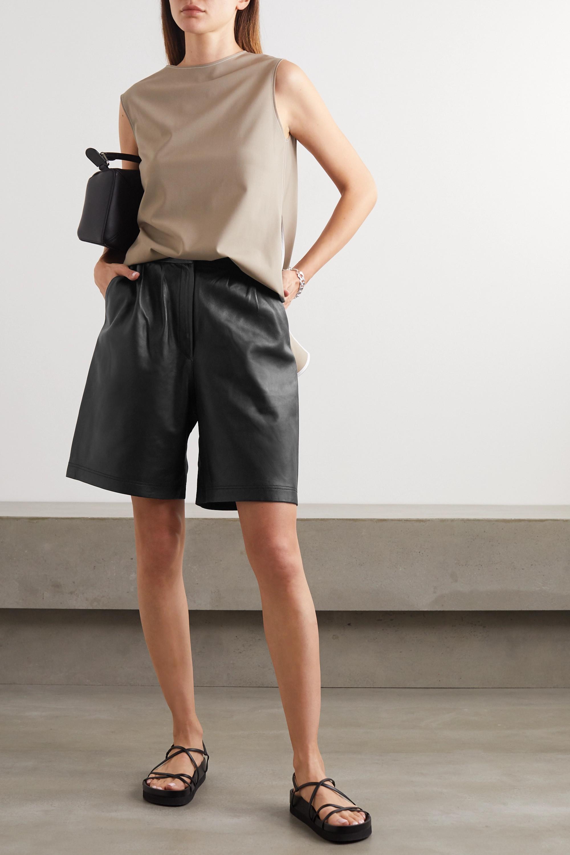 Envelope1976 + NET SUSTAIN Shorts aus Leder