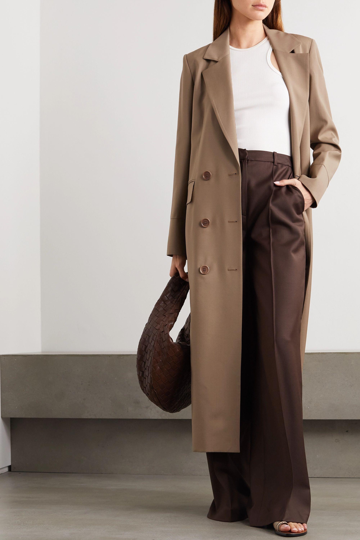 Envelope1976 + NET SUSTAIN Gala double-breasted wool-gabardine coat