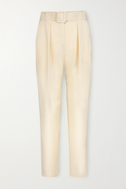 Envelope1976 Pantalon en laine à plis et à ceinture Pfeiffer - NET SUSTAIN