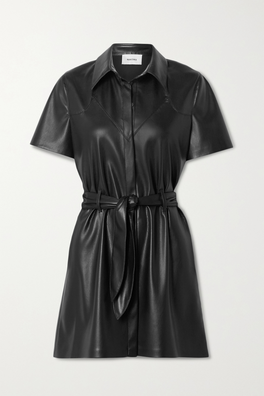 Nanushka Roberta belted vegan leather mini dress