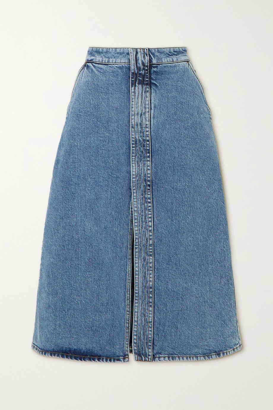 Stella McCartney + NET SUSTAIN denim midi skirt