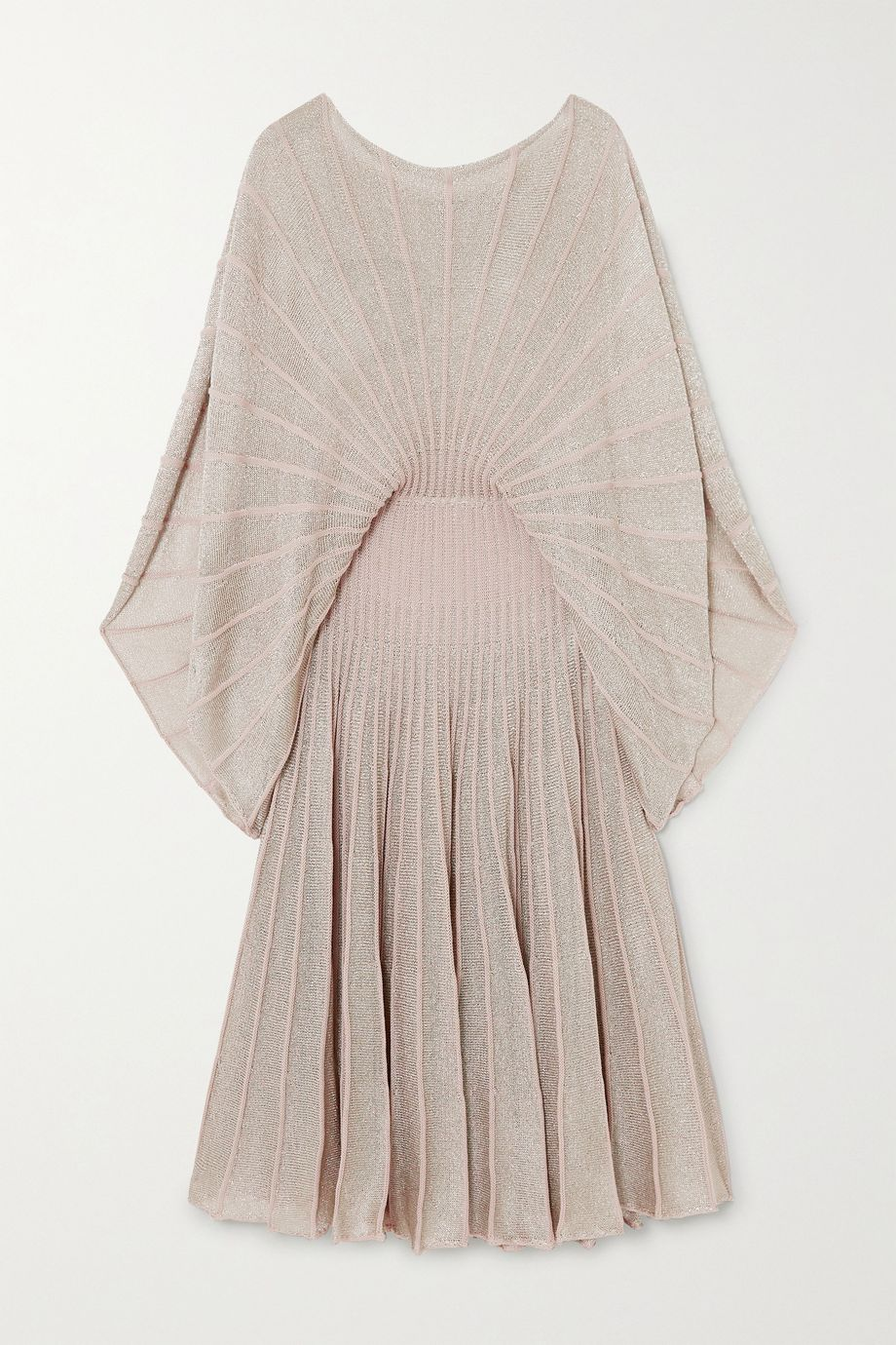Stella McCartney + NET SUSTAIN metallic knitted midi dress