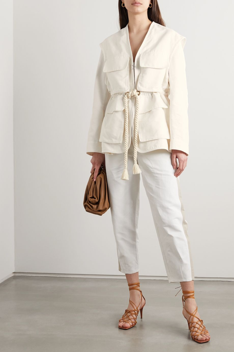 Stella McCartney + NET SUSTAIN Ania belted twill jacket