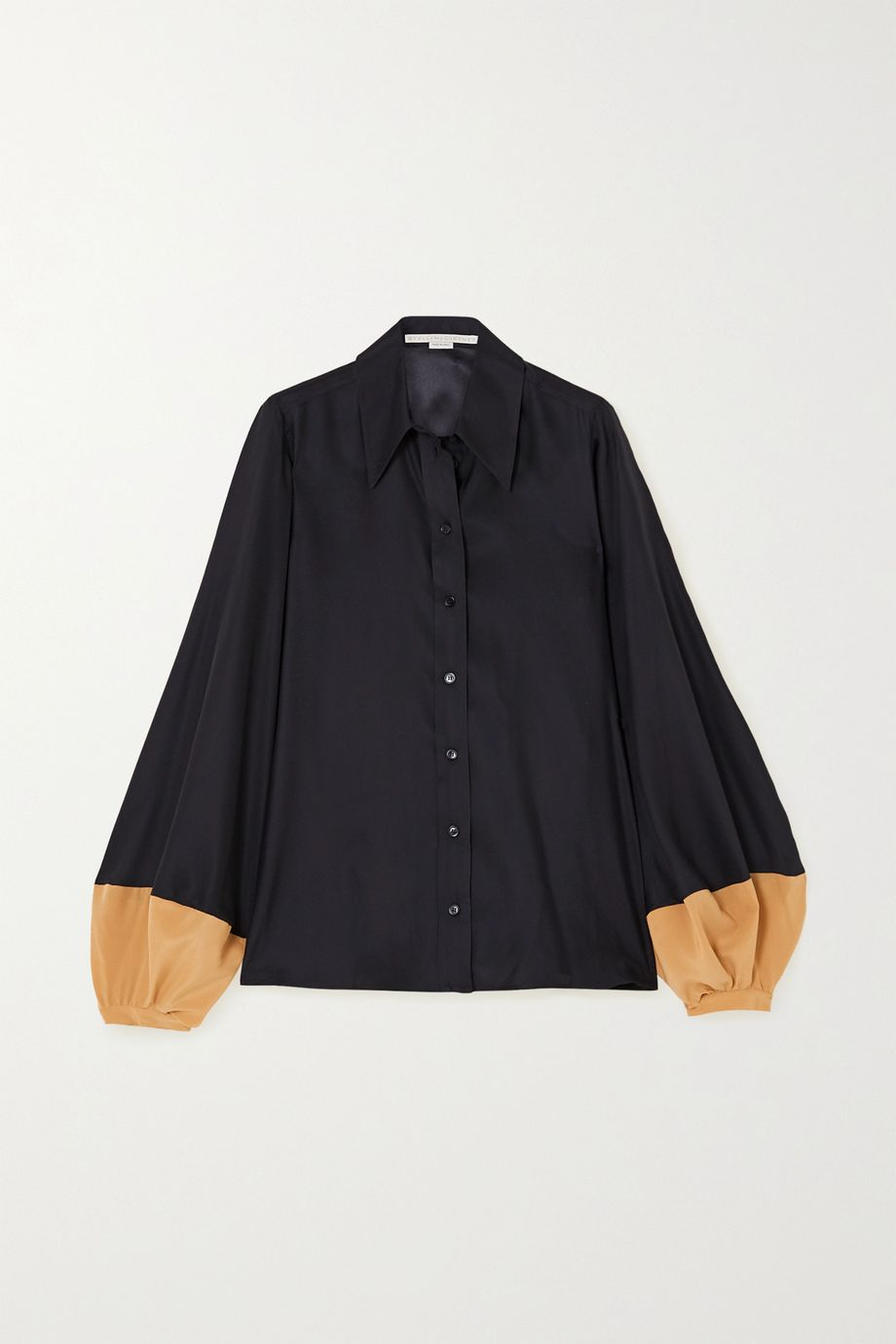 Stella McCartney Layla silk-satin and crepe de chine shirt