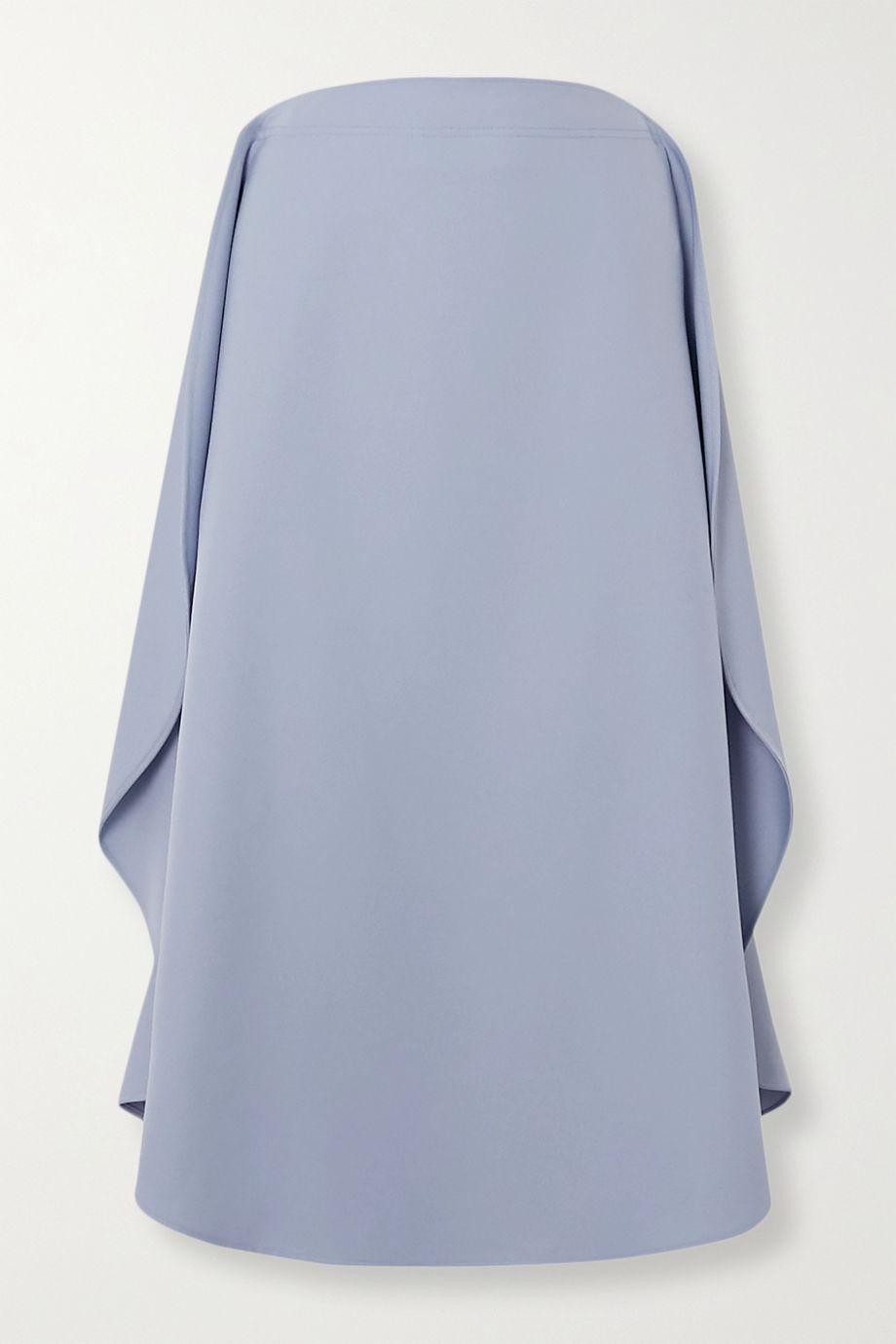 Stella McCartney + NET SUSTAIN draped twill midi skirt