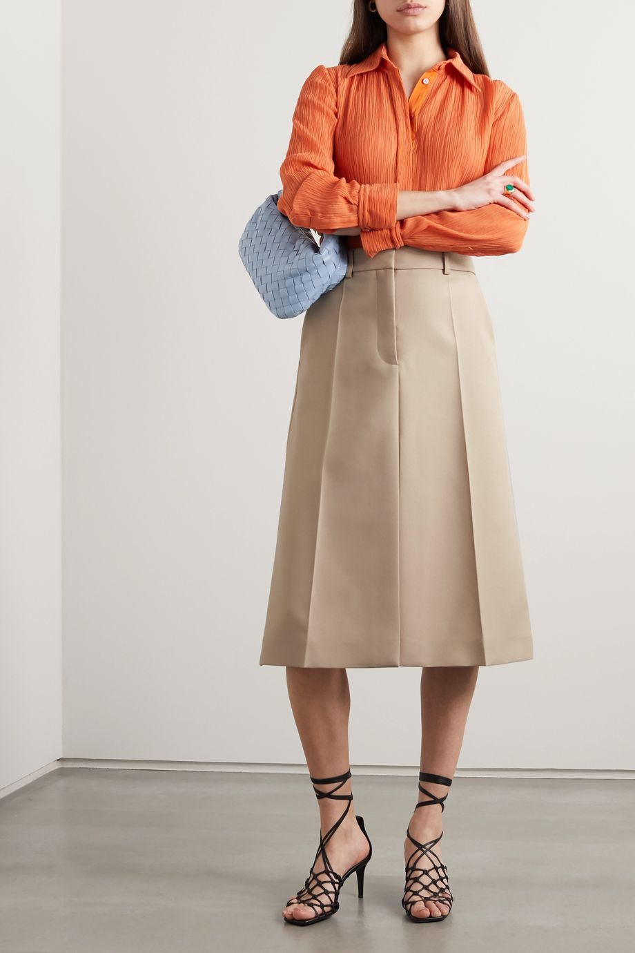 Stella McCartney + NET SUSTAIN Alisha twill skirt