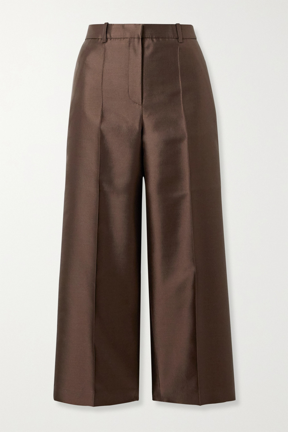 Givenchy Cropped wool and silk-blend satin-twill straight-leg pants