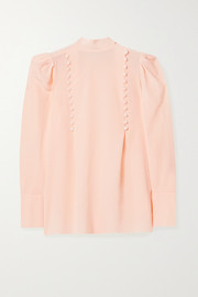 Givenchy Button-detailed silk-georgette blouse