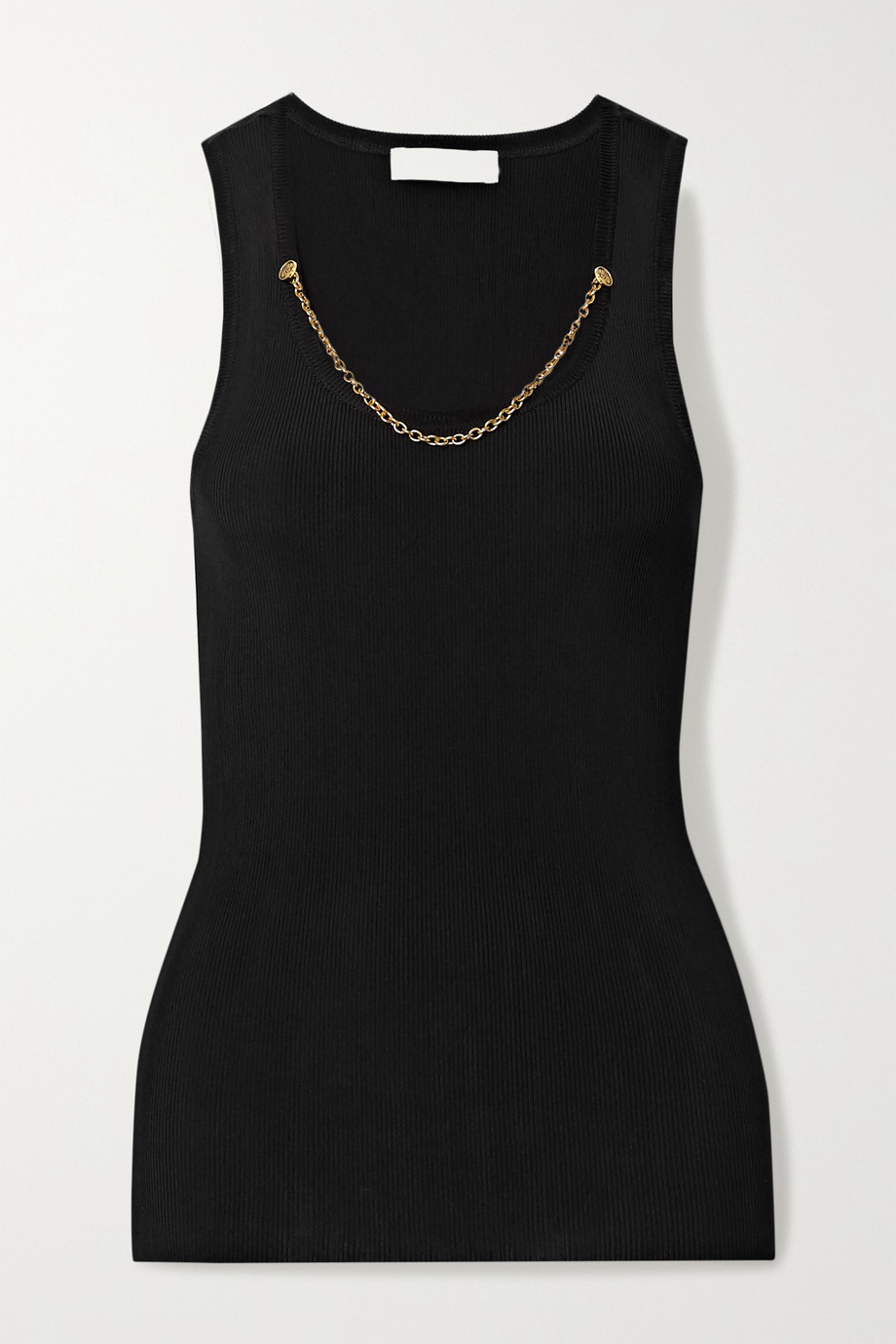Givenchy Chain-embellished ribbed jersey tank
