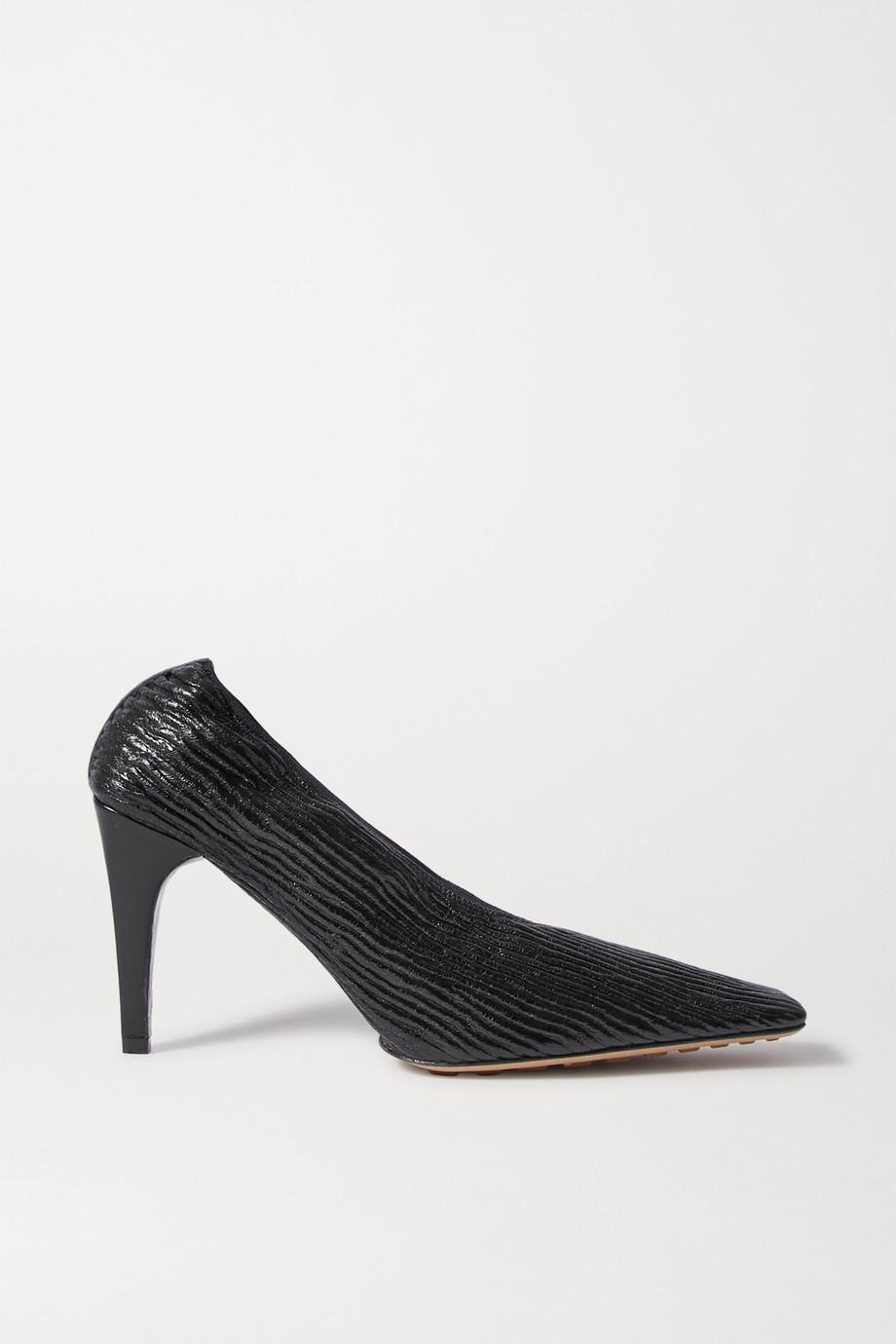 Bottega Veneta 纹理亮面皮革高跟鞋
