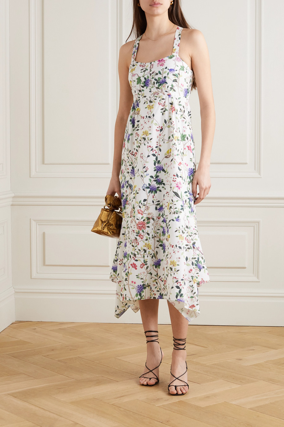 Erdem Oleanna floral-print cotton-poplin midi dress
