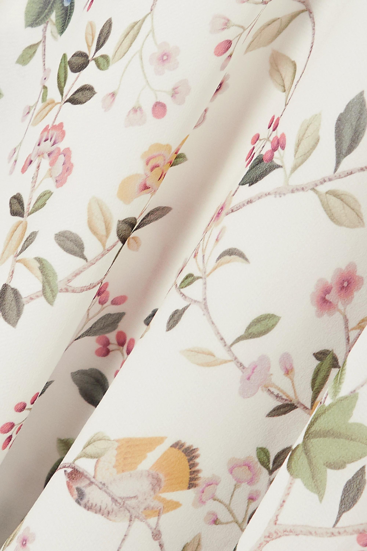 Erdem Opal ruffled printed silk-voile blouse