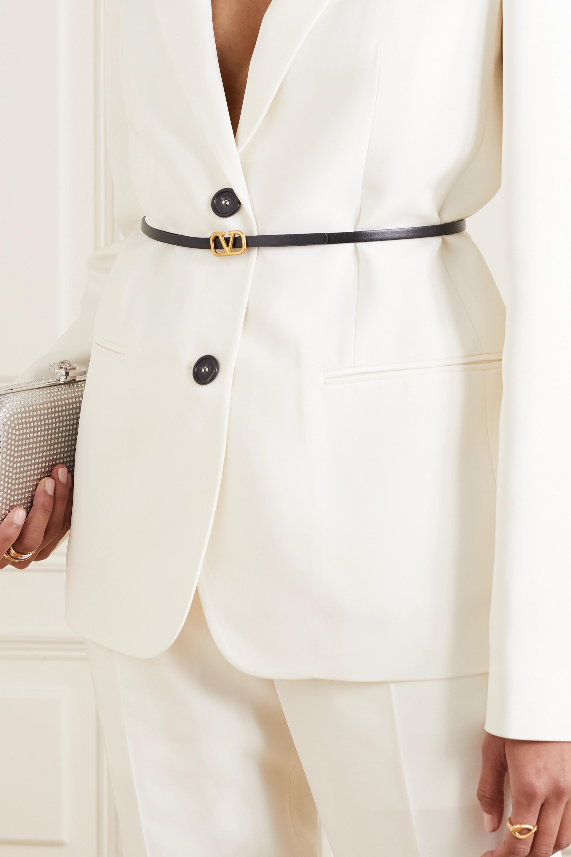 Valentino Valentino Garavani VLOGO reversible leather belt