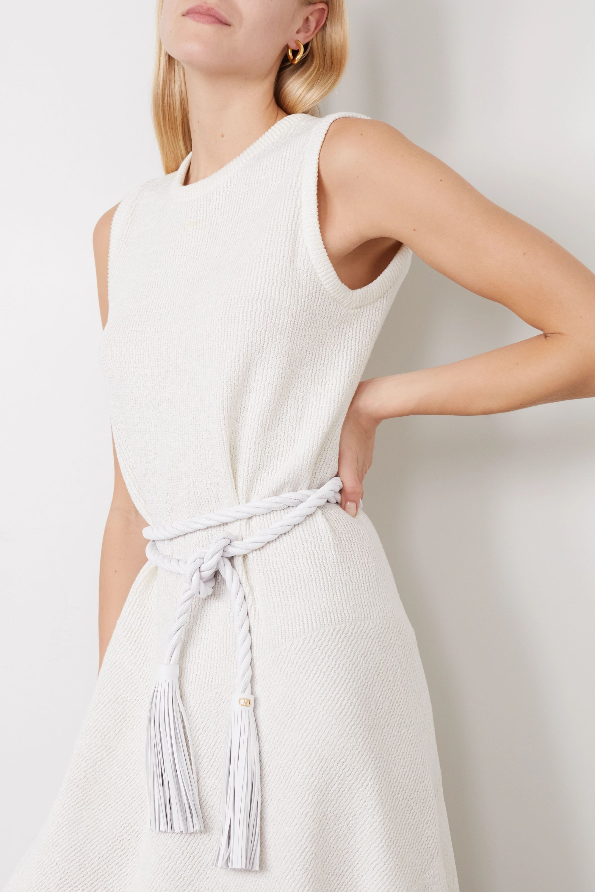 Valentino Valentino Garavani tasseled twisted leather waist belt