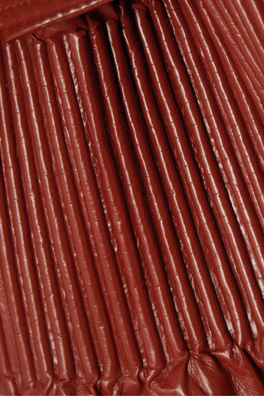 Bottega Veneta Trenchcoat aus Glanzleder in Knitteroptik